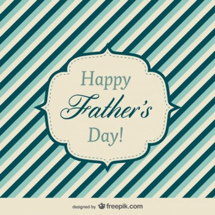 Father's Day Ecard Free Vector