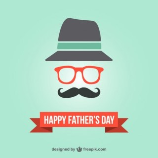 Father's Day Hipster Card Template Free Vector