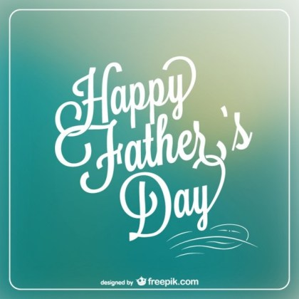 Father's Day Message Card Free Vector