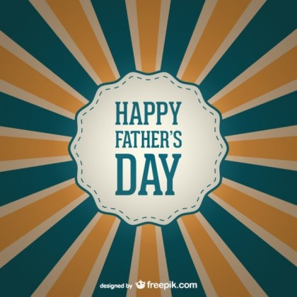 Father's Day Sunburst Design Free Vector