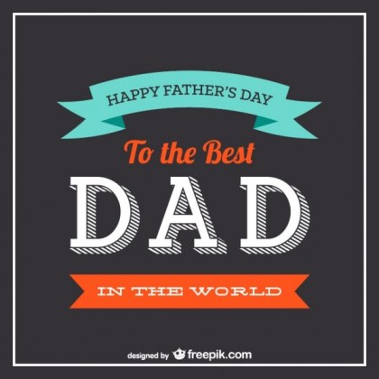 Father's Day Typography Free Vector