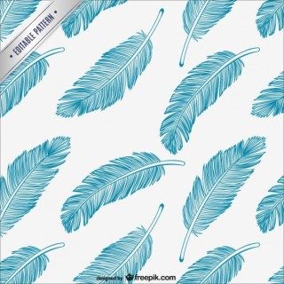 Feathers Editable Pattern Free Vector