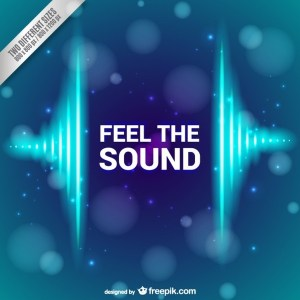 Feel The Sound Background Free Vector
