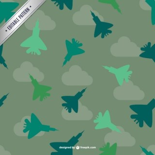 Fighter Planes Pattern Free Vector
