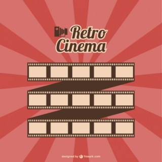 Film Roll Retro Cinema Free Vector