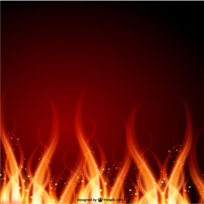 Fire Background Free Vector