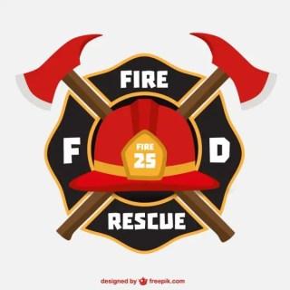 Firemen Helmet Emblem Free Vector