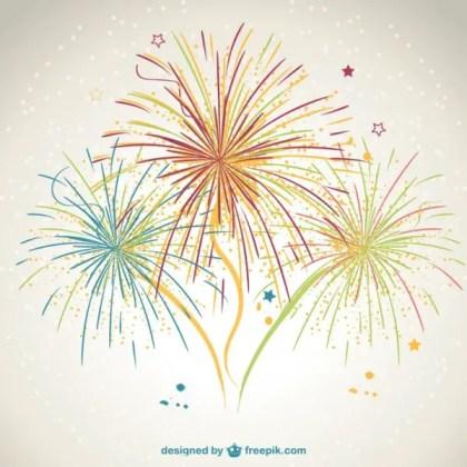 Fireworks Design Free Vector