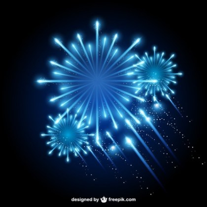 Fireworks Night Sky Free Vector