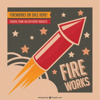 Fireworks Poster Free Vector