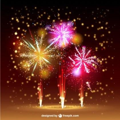 Fireworks Sky Free Vector