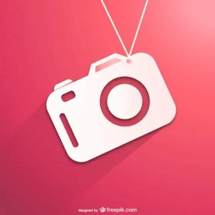 Flat Camera Icon Free Vector