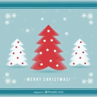 Flat Christmas Card Free Vector