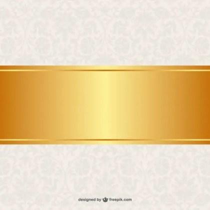 Floral Background Golden Banner Design Free Vector