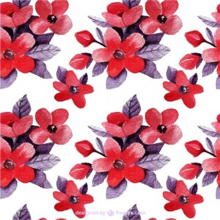 Floral Background in Red and Purple Tones Free Vector
