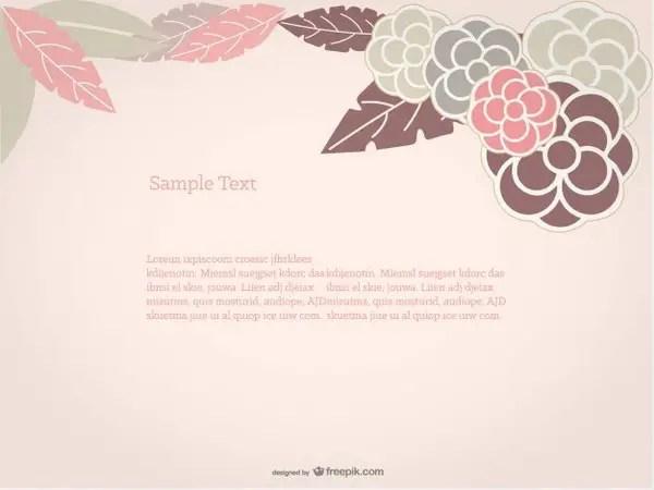 Floral Background Rose Design Free Vector