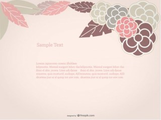 Floral Background Rose Design Free Vector