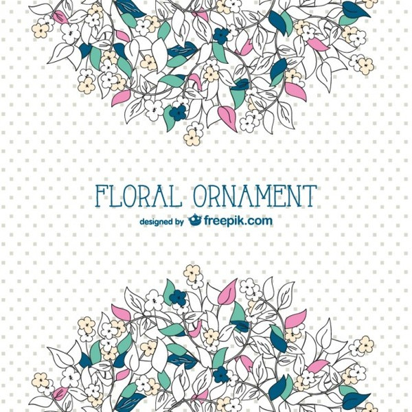 Floral Background Template Free Vector