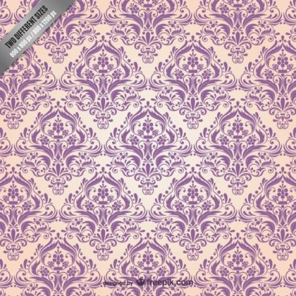 Floral Damask Pattern Free Vector