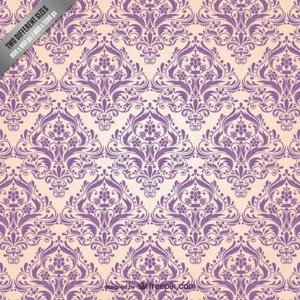 Floral Damask Pattern Free Vector