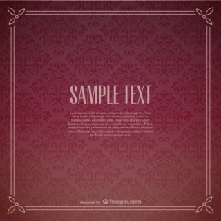 Floral Frame Wallpaper Free Vector