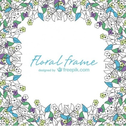 Floral Frames Card Free Vector