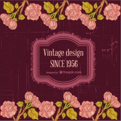 Floral Free Greetings Invite Card Free Vector