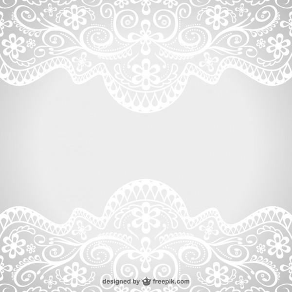 Floral Lace Ornaments Free Vector