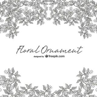 Floral Line Art Illustration Free Vector