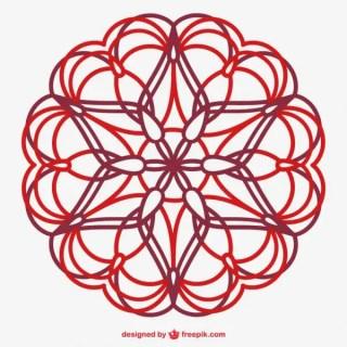 Floral Line Art Ornament Free Vector