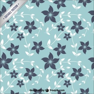 Floral Pattern Fabric Free Vector