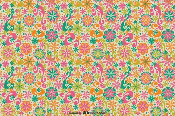 Floral Patterns with Flowers Free Vector