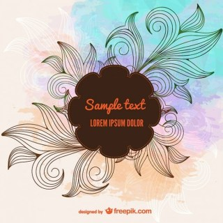Floral Plant Background Free Vector