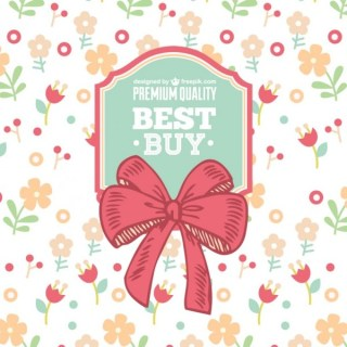 Floral Ribbon Sale Free Vector