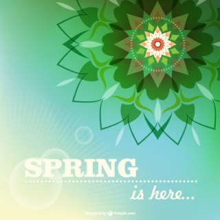 Floral Spring Card Free Vector