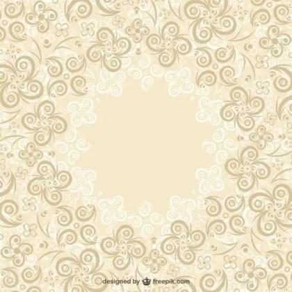 Floral Swirls Background Free Vector
