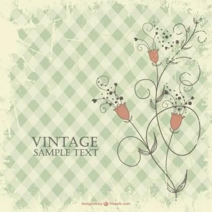 Floral Vintage Design Free Vector