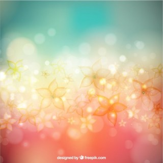 Flowers Background in Bokeh Style Free Vector