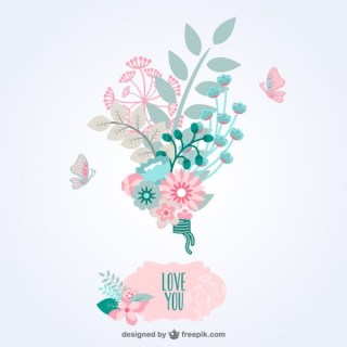 Flowers Template Bouquet Free Vector