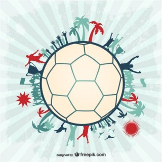Football Soccer Players Ball Design Free Vector