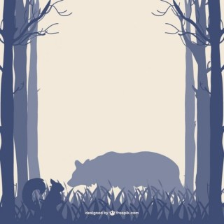 Forest Bear Silhouette Free Vector
