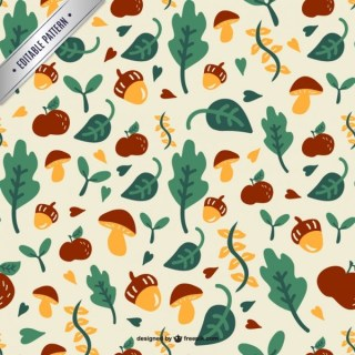 Forest Leaves Pattern Free Vector