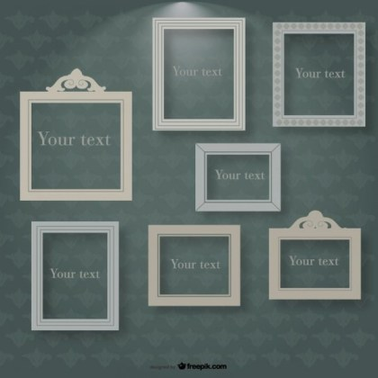 Frames in Spotlight on Vintage Background Free Vector