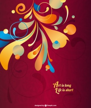 Free Abstract Swirls Background Free Vector