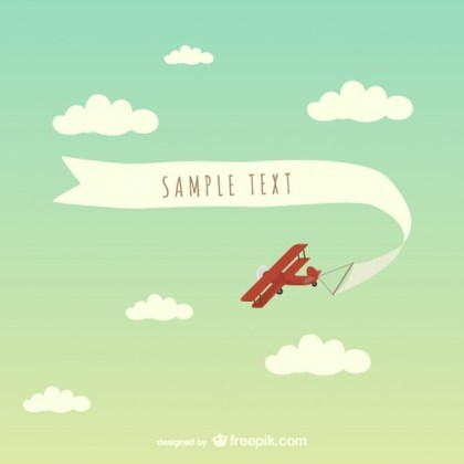 Free Airplane Banner Art Free Vector