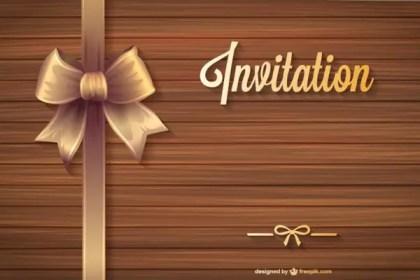 Free Anniversary Invitation Free Vector