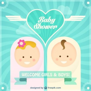 Free Baby Shower Card Free Vector