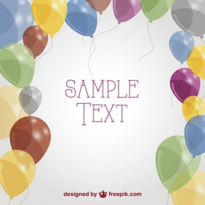 Free Balloons Greeting Card Free Vector