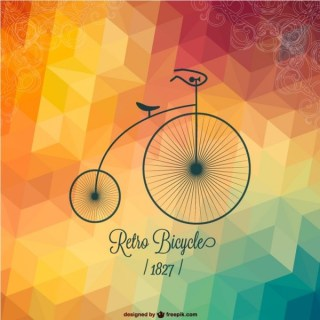 Free Bicycle Retro Design Free Vector