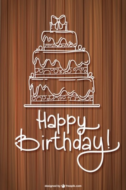 Free Birthday Greeting Card Free Vector